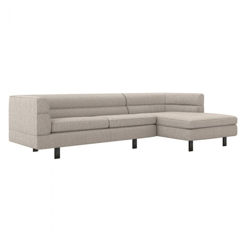 Ornette Right Chaise 2 Piece Sectional in luxe chenille / bungalow