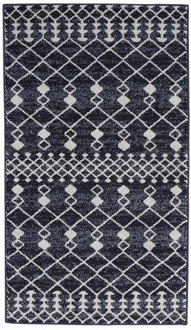 Palermo Rug in Navy/Grey by Nourison