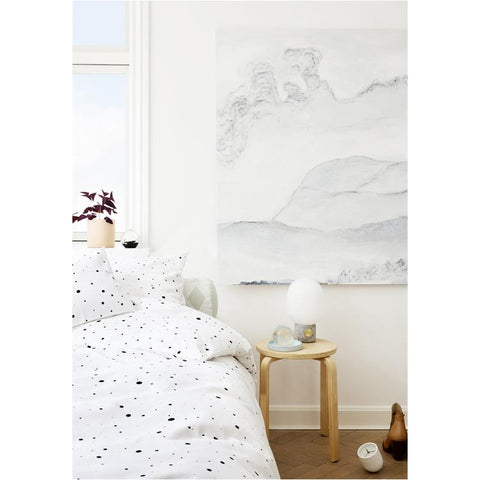 Dot Bedding - Xtra Length - White / Black