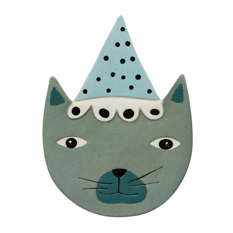 Ceramic Relief Buster Cat design by OYOY