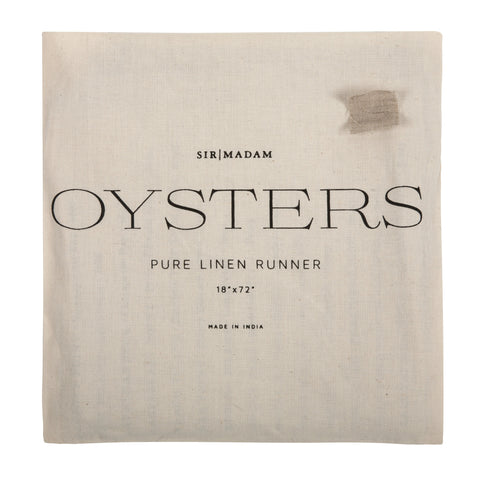 Oyster Linen Table Runner design by Sir/Madam