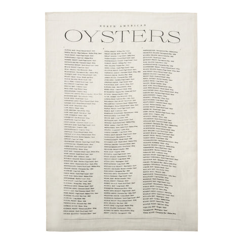 Oyster List Tea Towel in Oyster White design by Sir/Madam
