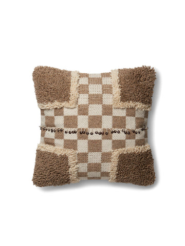 Beige & Brown Pillow by ED Ellen DeGeneres Crafted by Loloi