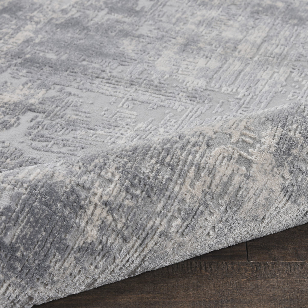Rustic Textures Rug in Ivory/Silver by Nourison