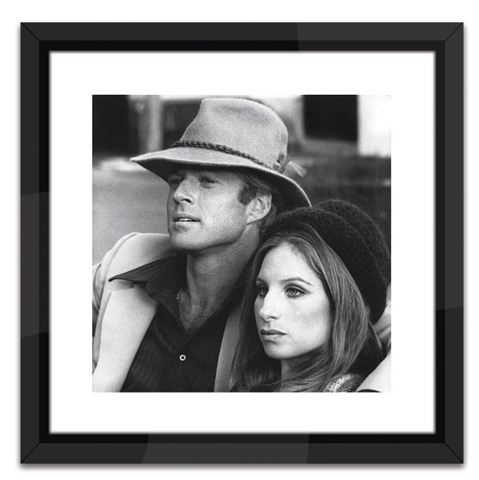Robert Redford & Barbara Streisand in Black and White Print