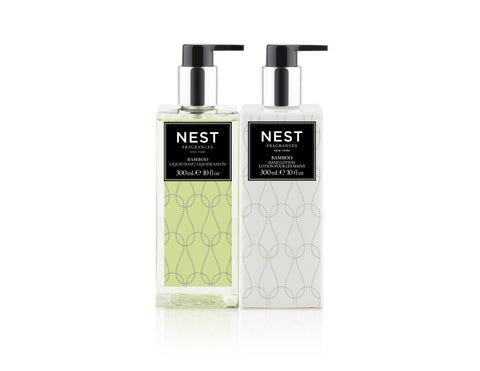 Bamboo Liquid Soap and Hand Lotion Gift Set design by Nest Fragrances