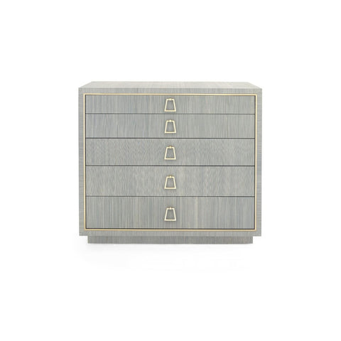 Parker Large 5-Drawer in Slate Blue design by Bungalow 5