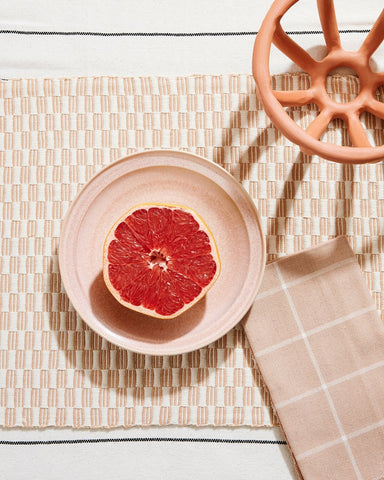 Panalito Placemat in Peach design by Minna