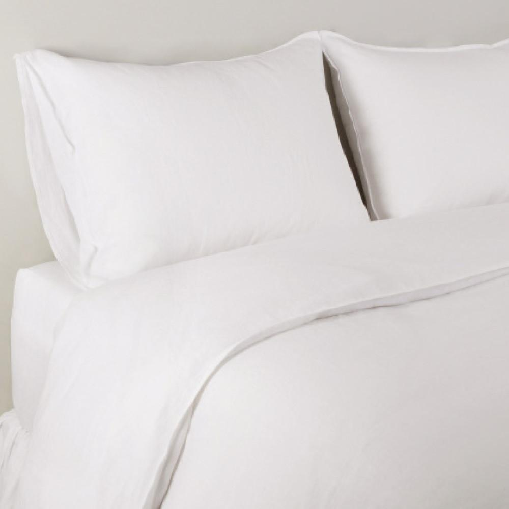 Parker Linen Duvet Set in White design by Pom Pom at Home