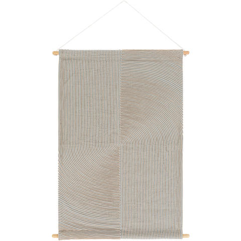 Pax Woven Wall Hanging in Light Grey & Cream