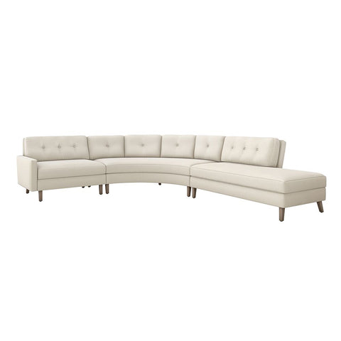 Aventura Right Chaise 3 Piece Sectional in Various Colors Design by Interlude Home