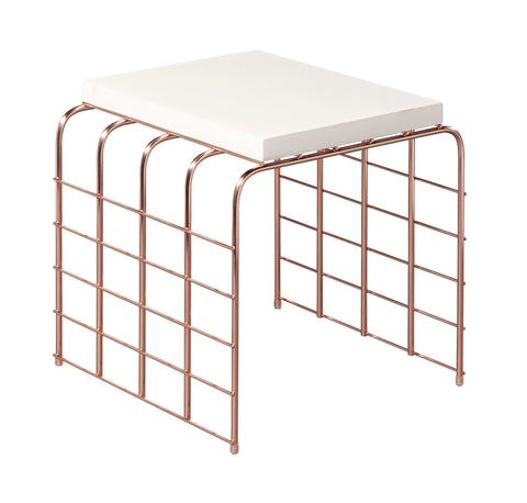 Perpetual Mesh Link Accent Table in Various Colors by BD Outdoor