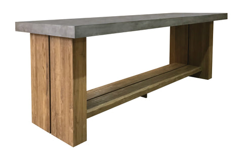 Perpetual Teak Mykonos Bar Table by BD Outdoor