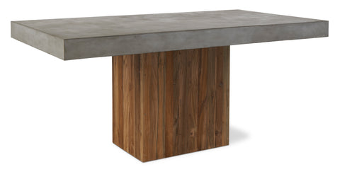 Perpetual Teak Sparta Dining Table in Various Colors by BD Outdoor
