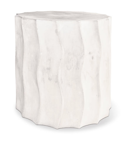 Perpetual Wave Short Accent Table in Various Colors by BD Outdoor