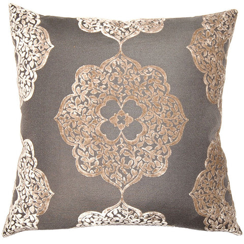 Pewter Medallion Pillow  in various sizes design by Square feathers