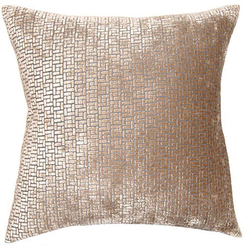Pewter Weave Pillow  in various sizes design by Square feathers