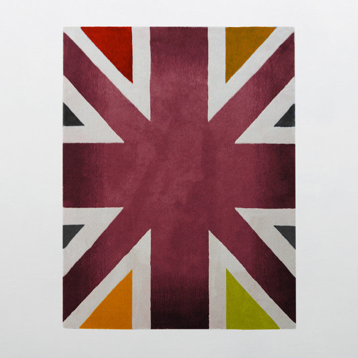 Piccadilly Circus Collection 100% Wool Area Rug in Assorted Colors design by Second Studio