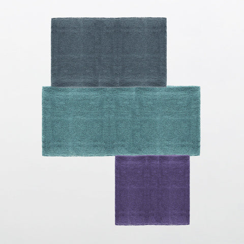 Pieces de Tokyo Collection 100% Wool Area Rug in Assorted Colors design by Second Studio