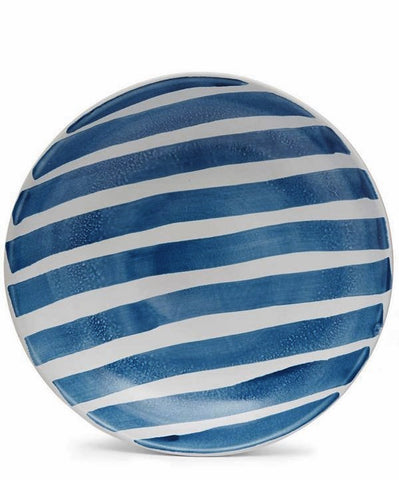 Blue Stripe Plate Set by Burke Decor