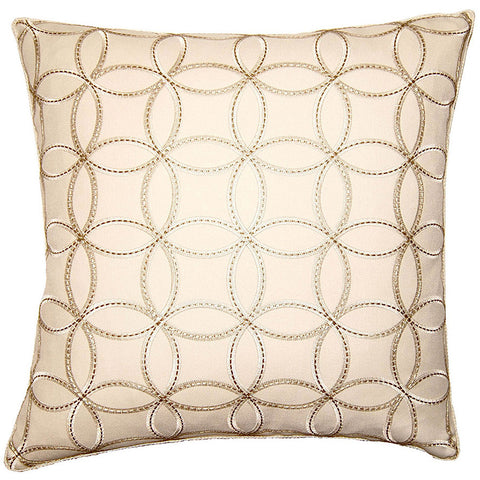 Plaza Circles Pillow in various sizes design by Square feathers