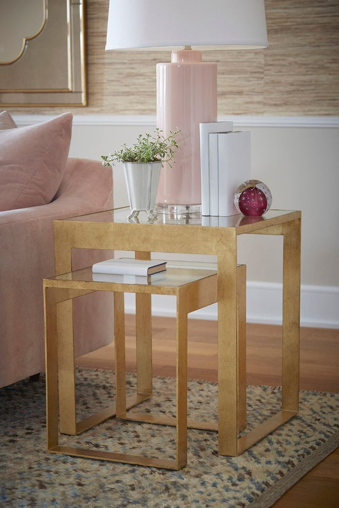 Plano Side Table in Gold design by Bungalow 5