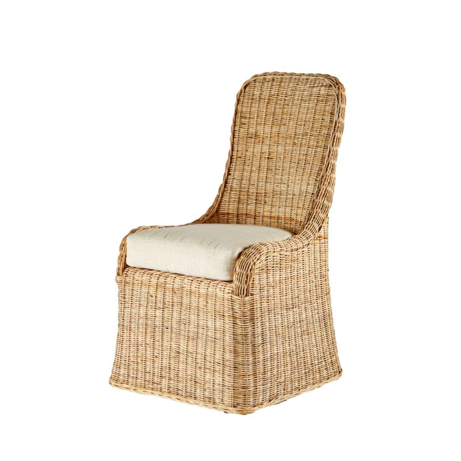 Pamona Wicker Side Chair in Natural design by Selamat