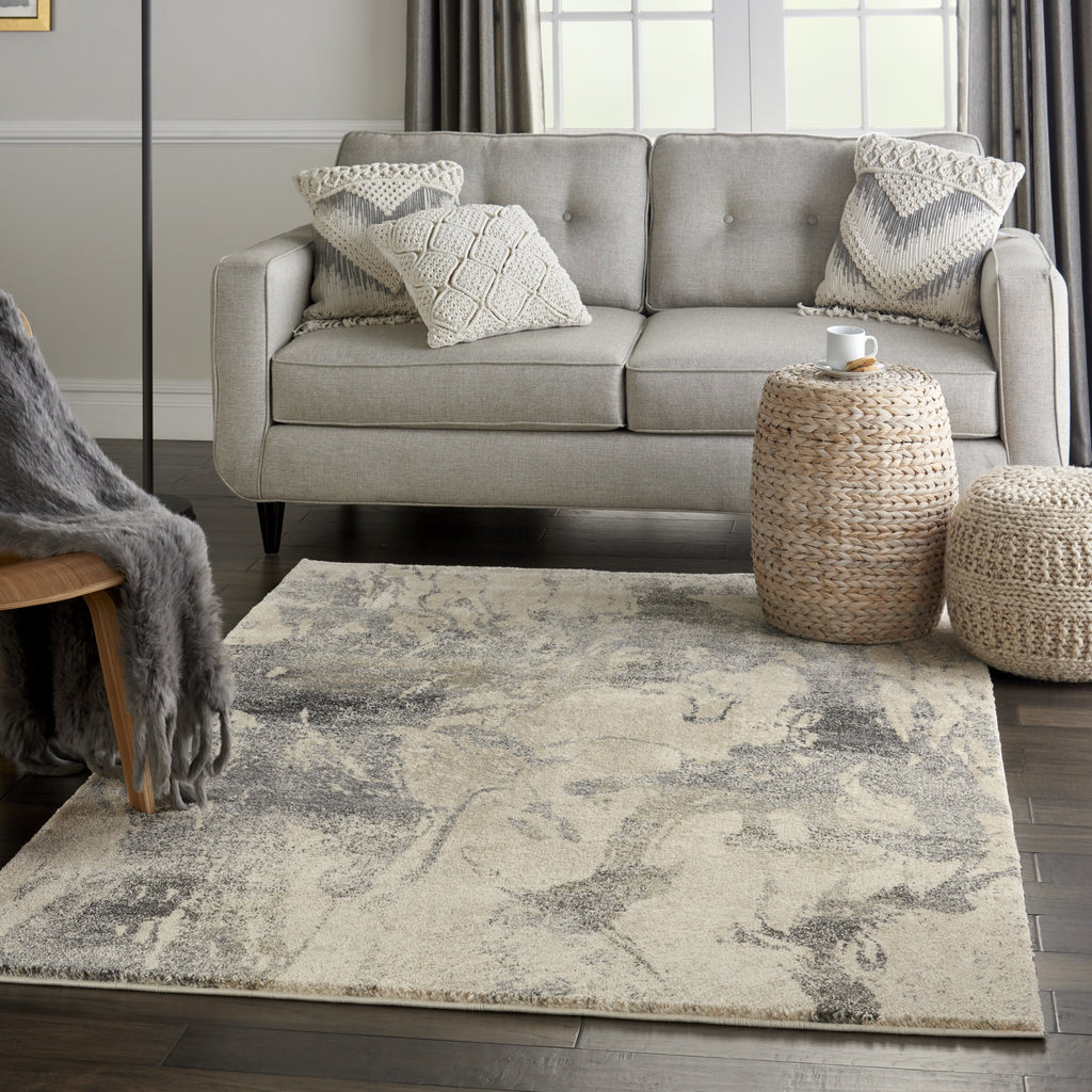 Fusion Rug in Cream Grey by Nourison