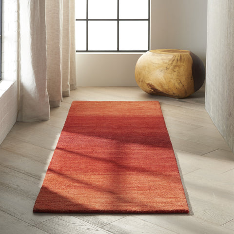 Linear Glow Rug in Sumac by Calvin Klein