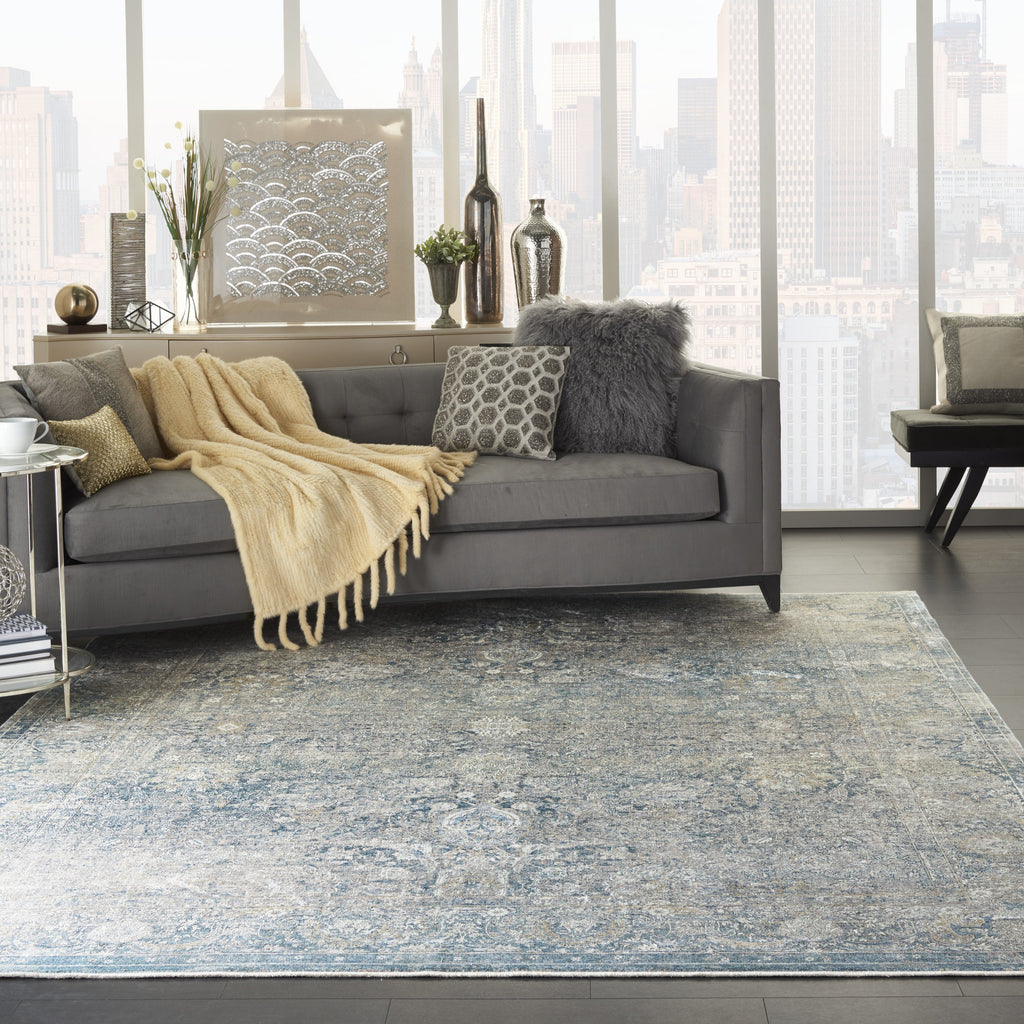 Starry Nights Rug in Cream Blue by Nourison