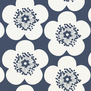Pop Floral Wallpaper in Ink design by Aimee Wilder
