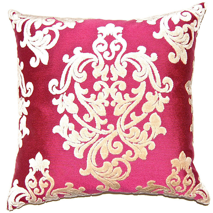 Poppy Elegant Floral Pillow in various sizes design by Square feathers