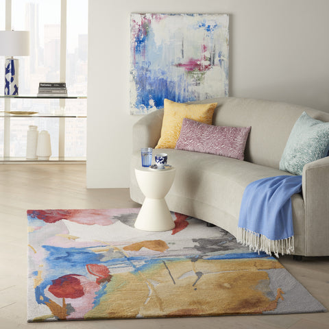 Symmetry Rug in Multicolor by Nourison