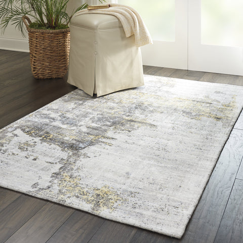Safari Dreams Rug in Ivory/Gold by Kathy Ireland