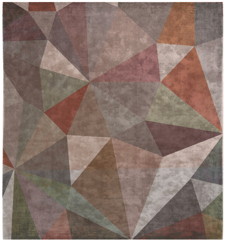 Quel Bordel Hand Knotted Rug in Multi design by Second Studio