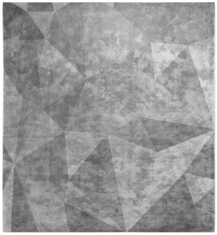 Quel Bordel Hand Knotted Rug in Grey design by Second Studio