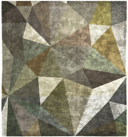 Quel Bordel Hand Knotted Rug in Green design by Second Studio