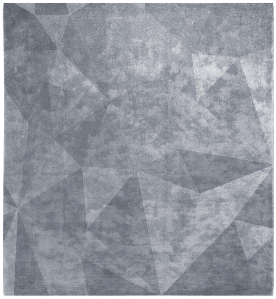 Quel Bordel Hand Knotted Rug in Light Blue design by Second Studio