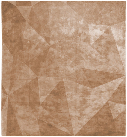 Quel Bordel Hand Knotted Rug in Orange design by Second Studio