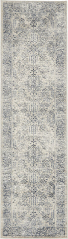 Malta Rug in Ivory/Blue by Kathy Ireland