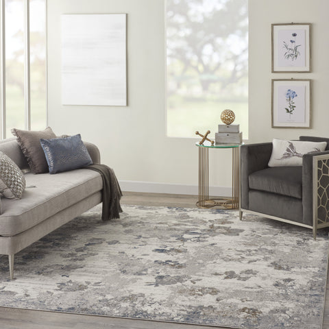 Royal Terrace Rug in Ivory & Grey by Kathy Ireland