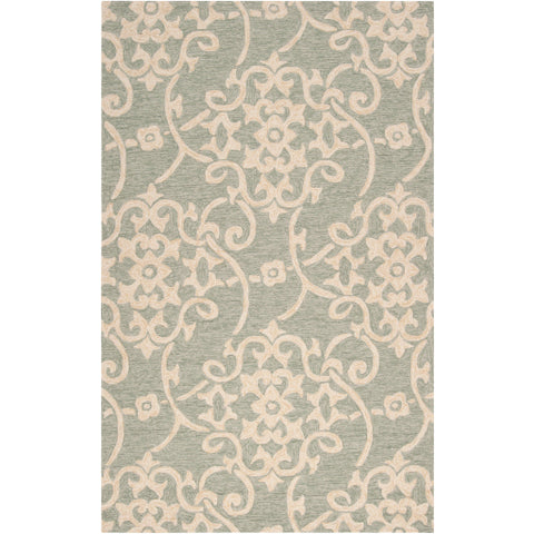 Rain Outdoor Rug in Sea Foam & Emerald design by Surya