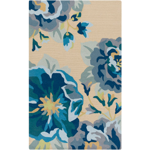Rain Outdoor Rug in Bright Blue & Sky Blue design by Surya