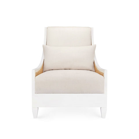 Raleigh Club Chair in White by Bungalow 5