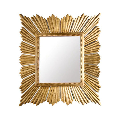 Raymond Extra Large Raymond Mirror in Gold Leaf design by BD Studio