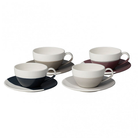 Coffee Studio Cappuccino Cup & Saucer Set of 4 by RD