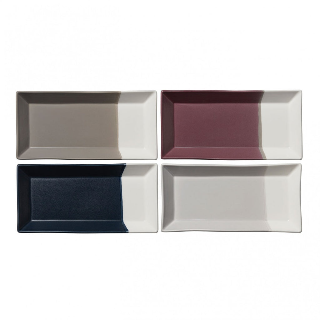 Coffee Studio Rectangular Tray Set of 4 by RD