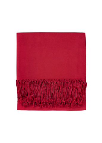 Solid Bamboo Throw in Cranberry