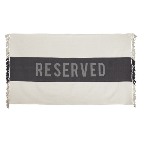 Reserved Beach Towel in Black design by Sir/Madam