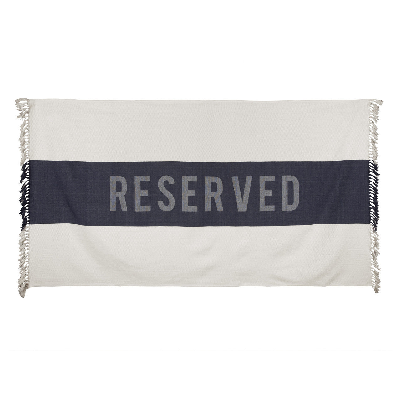 Reserved Beach Towel in Indigo design by Sir/Madam